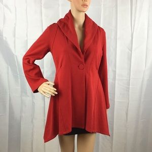 Comfy USA Jacket Size S Red One Button